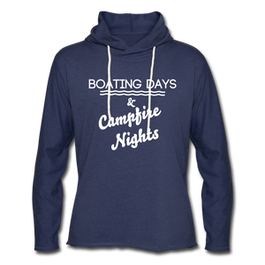 Boating Days & Campfire Nights Lightweight Hoodie - heather navy