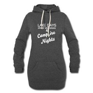 Lake Days & Campfire Nights Long Hoodie - heather black