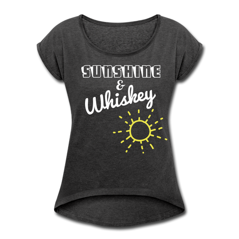 Sunshine & Whiskey Tee - heather black