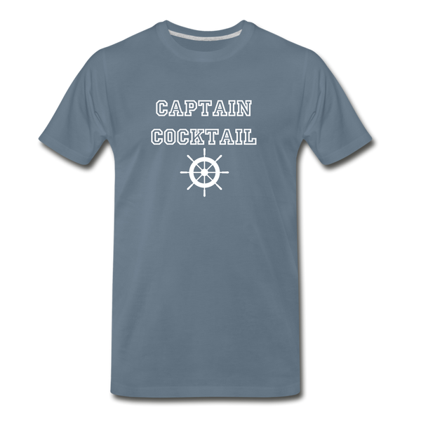 Captain Cocktail Unisex Tee - steel blue