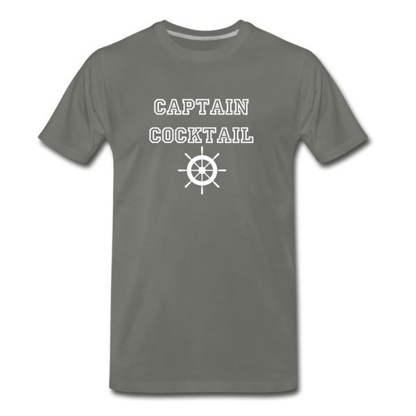 Captain Cocktail Unisex Tee - asphalt gray