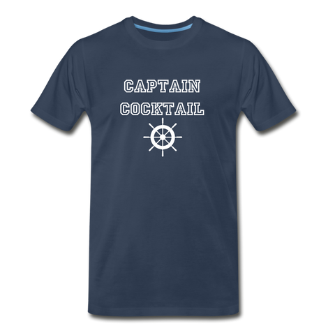 Captain Cocktail Unisex Tee - navy
