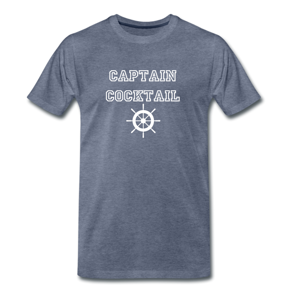 Captain Cocktail Unisex Tee - heather blue