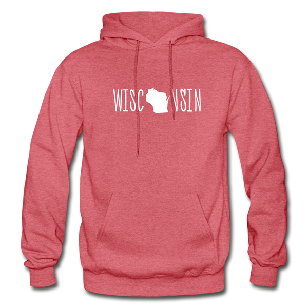 Wisconsin Hoodie - heather red