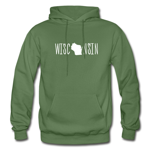Wisconsin Hoodie - military green