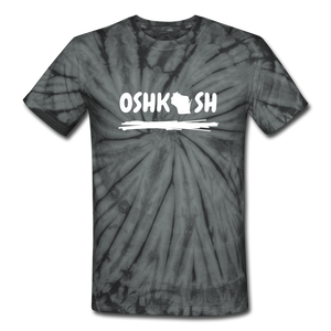 Black Oshkosh Unisex Tie Dye T-Shirt - spider black