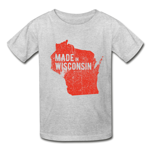 Made In Wisconsin Youth Tee - heather gray