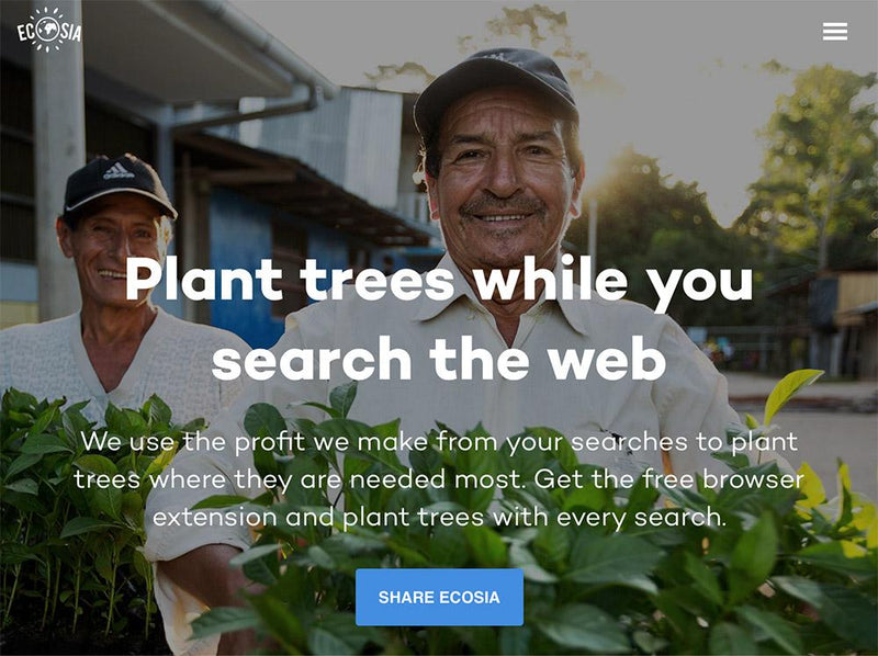 Plant trees while you search the web