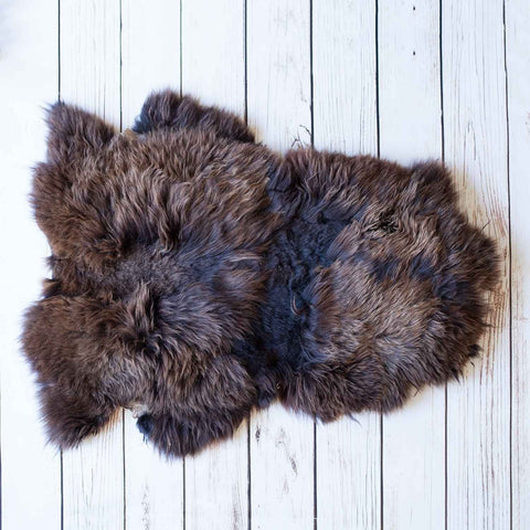 Natural Chocolate Economy Sheepskin Rugs