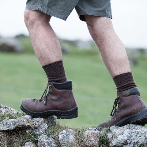 Cotswold Mohair Trekking Sock available in a range of colours deserves a place on your gifts for Dad list