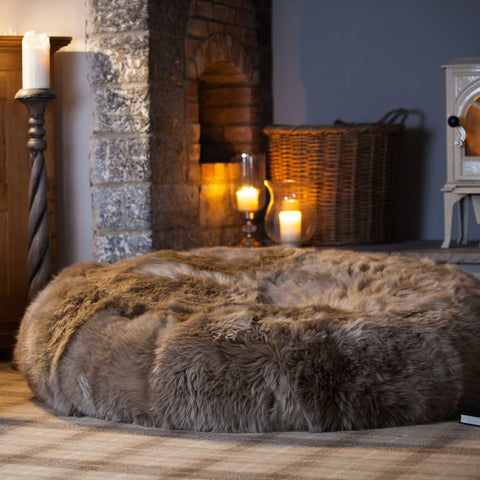 Hareen sheepskin beanbag