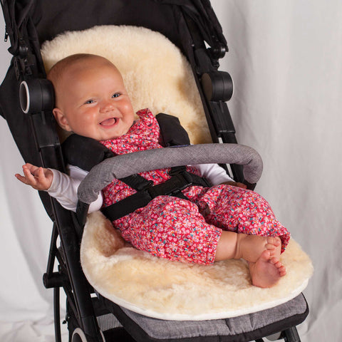 sheepskin pram liner - one of our popular baby gifts