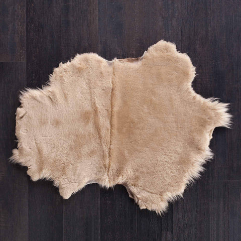 Large luxury sheepskin pet-bed otter