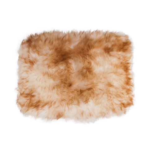 Sheepskin snuggle pet rug