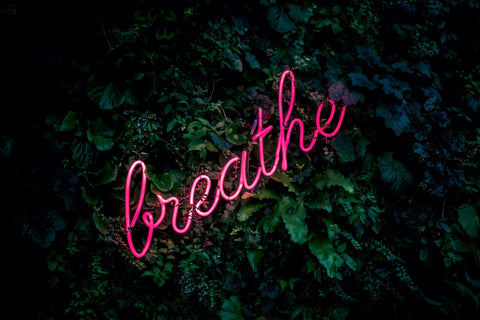 Breath Neon Sign n nature