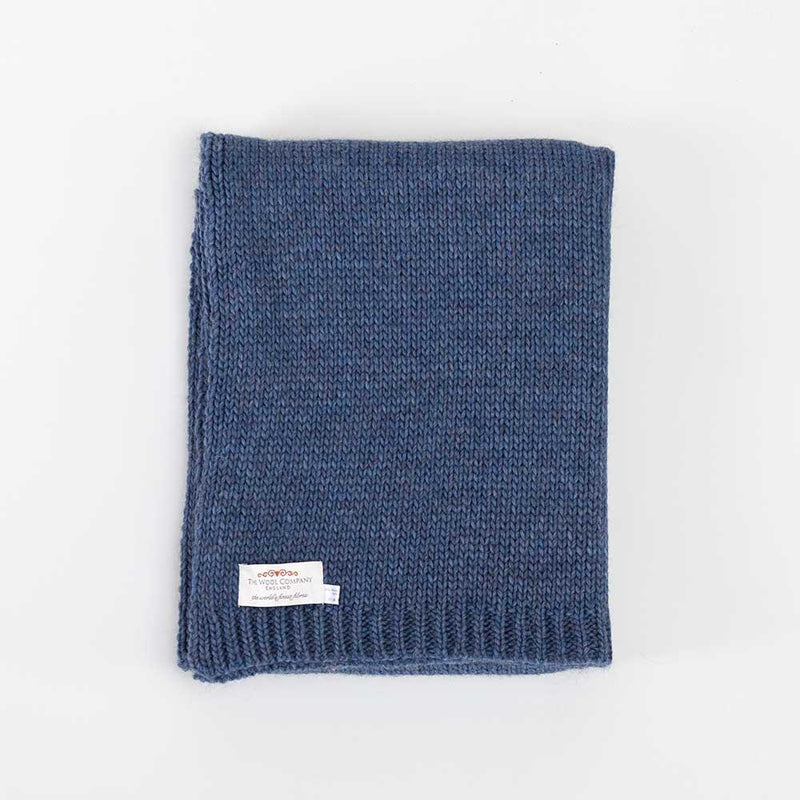 Alpaca Knitted Throw Blue -  - LIVING  from The Wool Company