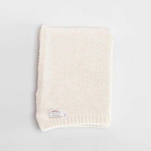 Alpaca Knitted Throw Cream -  - LIVING  from The Wool Company