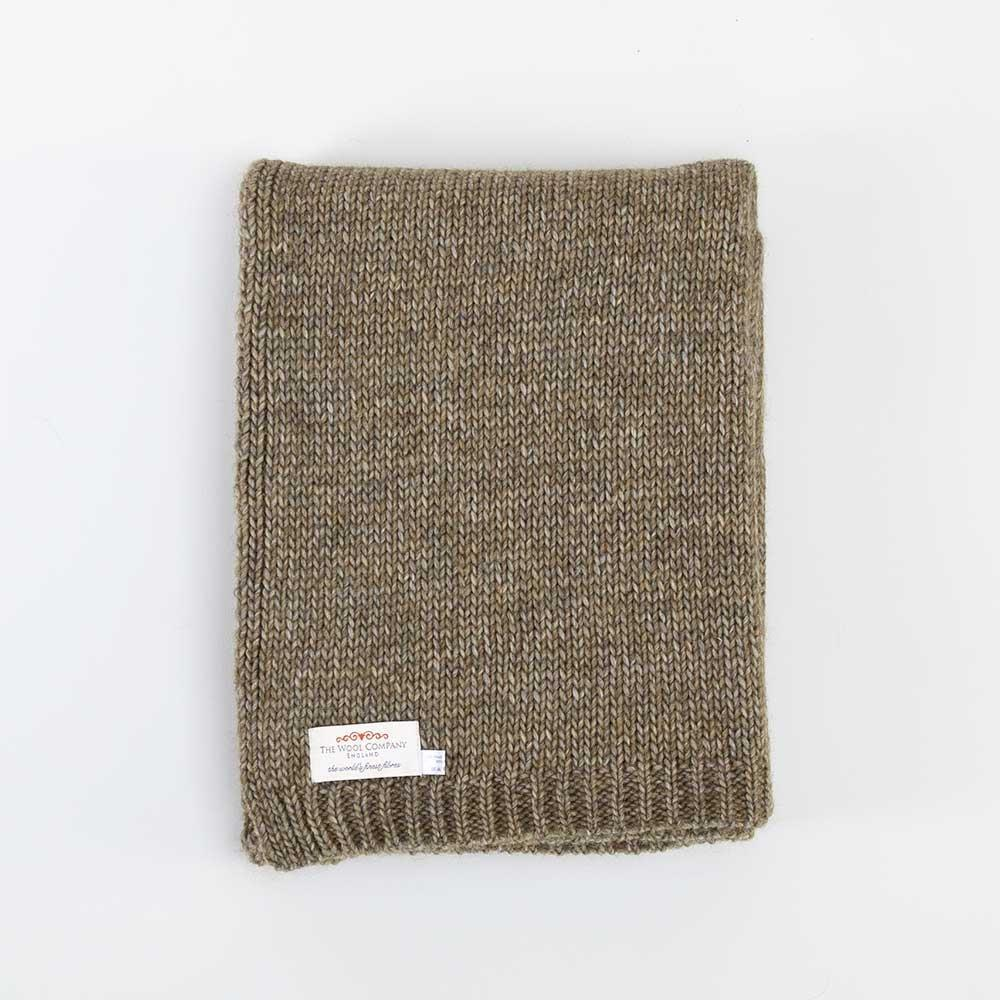 Alpaca Knitted Throw Green -  - LIVING  from The Wool Company