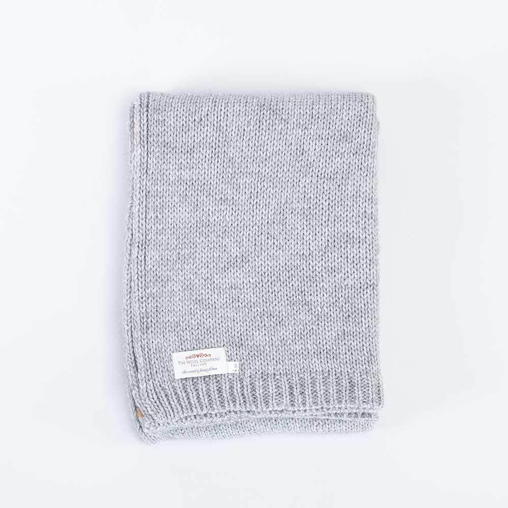 Alpaca Knitted Throw Grey -  - LIVING  from The Wool Company