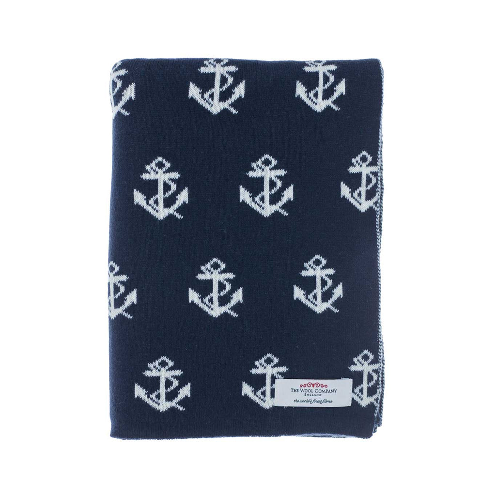 Anchor Baby Blanket Navy -  - BABY  from The Wool Company