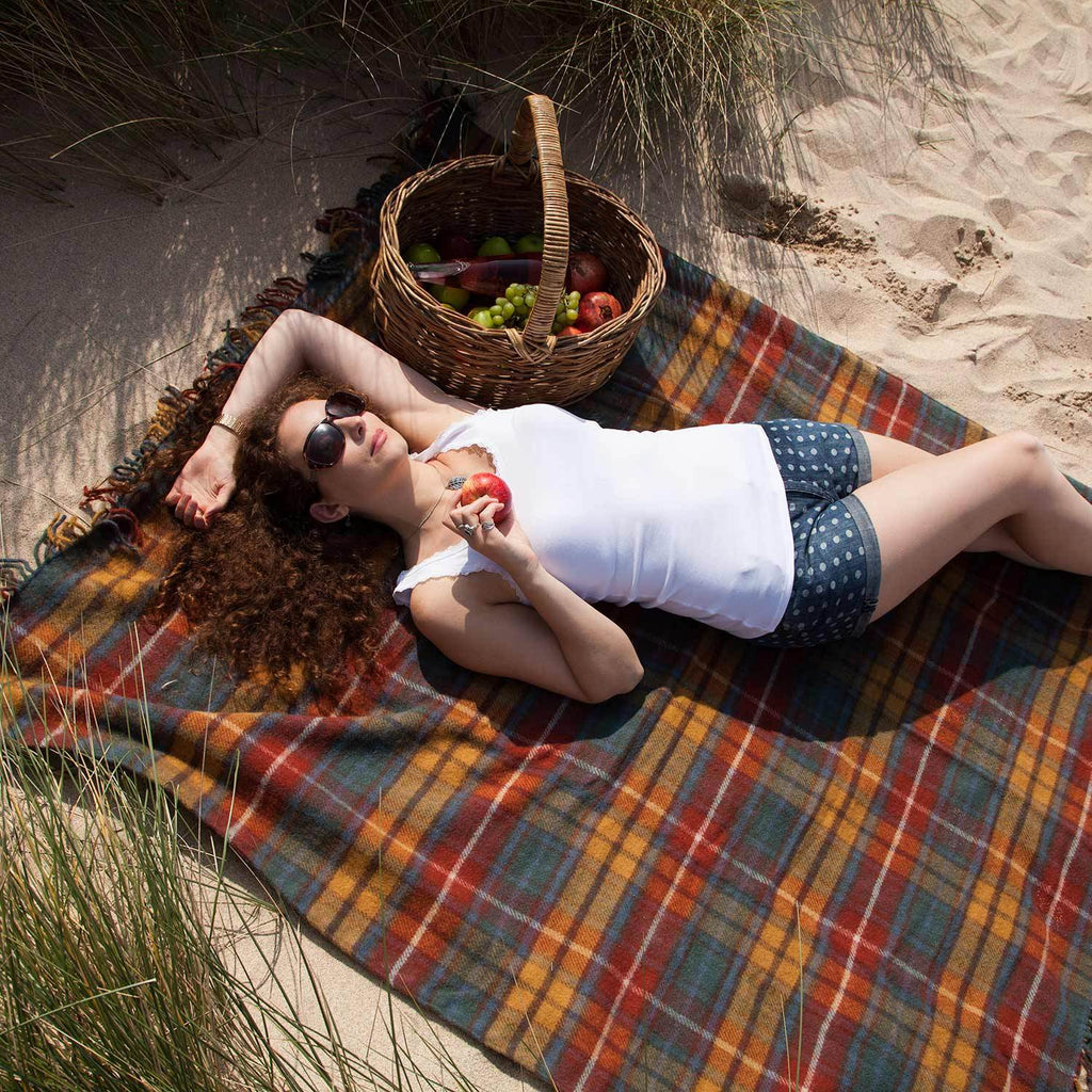 Antique Buchanan Picnic Blanket -  - LIVING  from The Wool Company