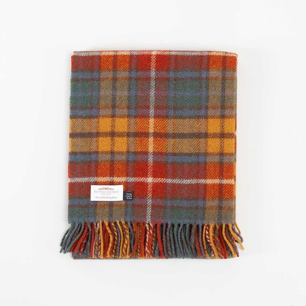 Buy Antique Buchanan Tartan Check Pure New Wool Knee Rug From The Wool Company Online