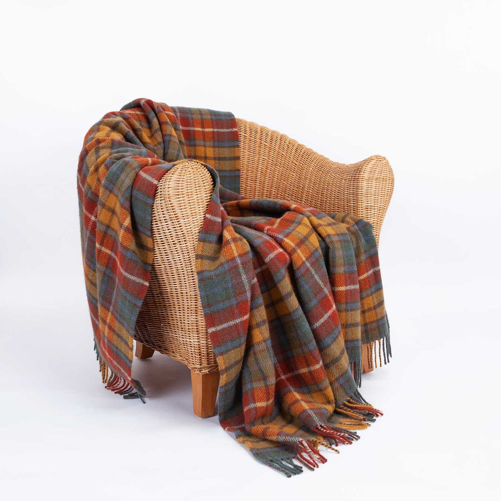Buy Antique Buchanan Tartan Check Pure New Wool Throw From The Wool Company Online