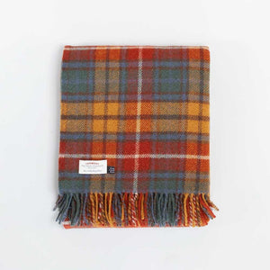 Antique Buchanan Tartan Check Pure New Wool Throw -  - LIVING  from The Wool Company