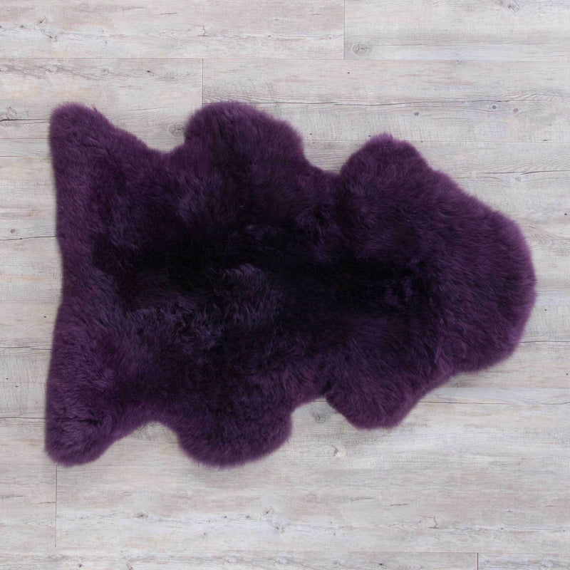 Aubergine Sheepskin -  - SHEEPSKIN  from The Wool Company