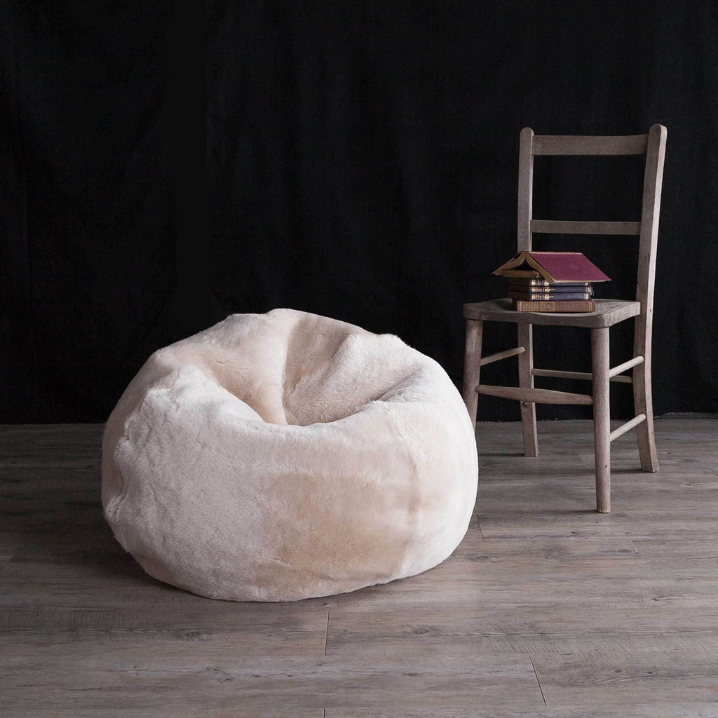Baby Sheepskin Bean Bag in Oyster -  - SHEEPSKIN  from The Wool Company