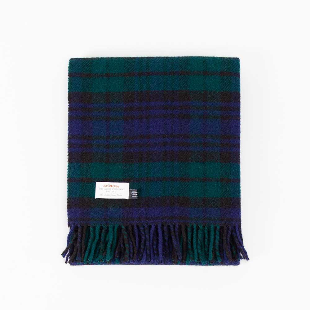 Blackwatch Tartan Check Pure New Wool Knee Rug -  - LIVING  from The Wool Company