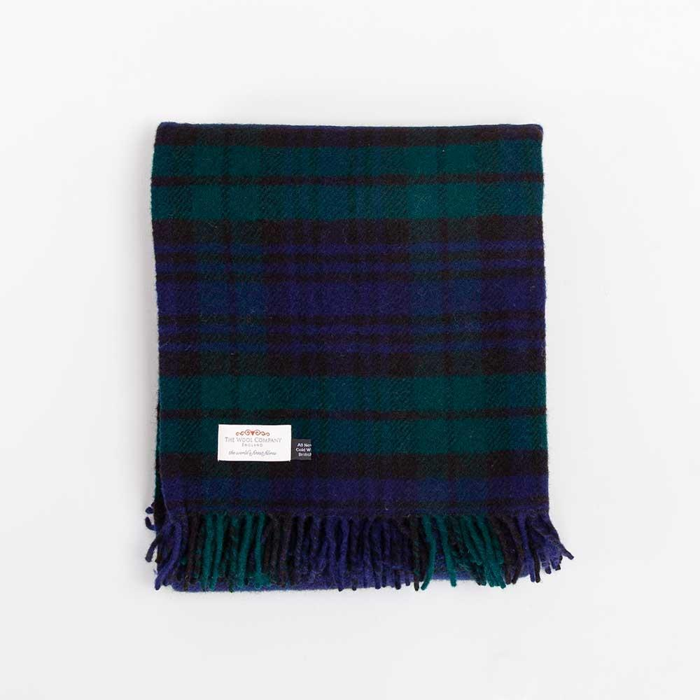 Blackwatch Tartan Check Pure New Wool Throw -  - LIVING  from The Wool Company