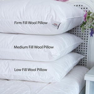 Buy British 100% Wool Pillow - Low Fill From The Wool Company Online