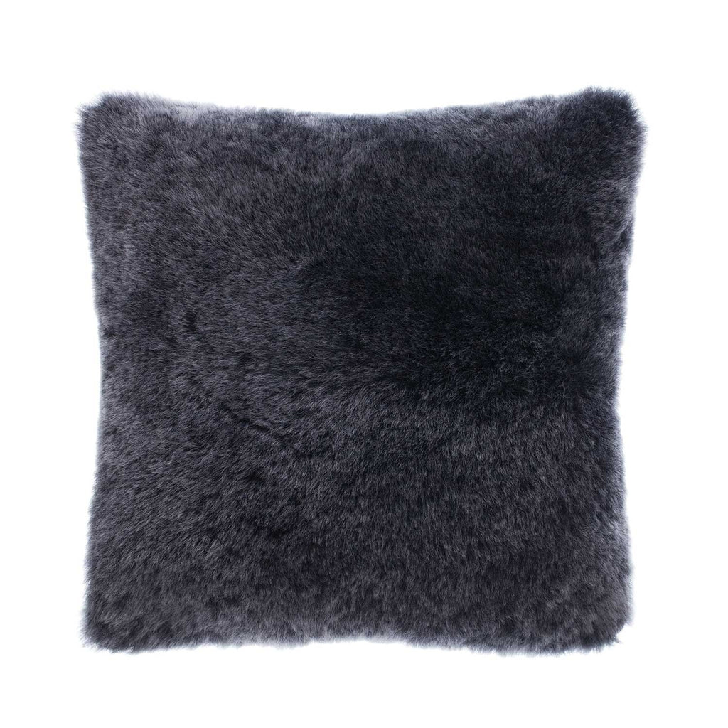 British Sheepskin Cushion Graphite SHEEPSKIN The Wool Company
