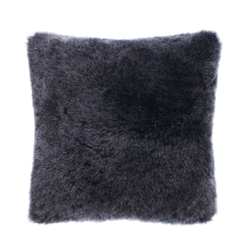 British Sheepskin Cushion Graphite -  - SHEEPSKIN  from The Wool Company