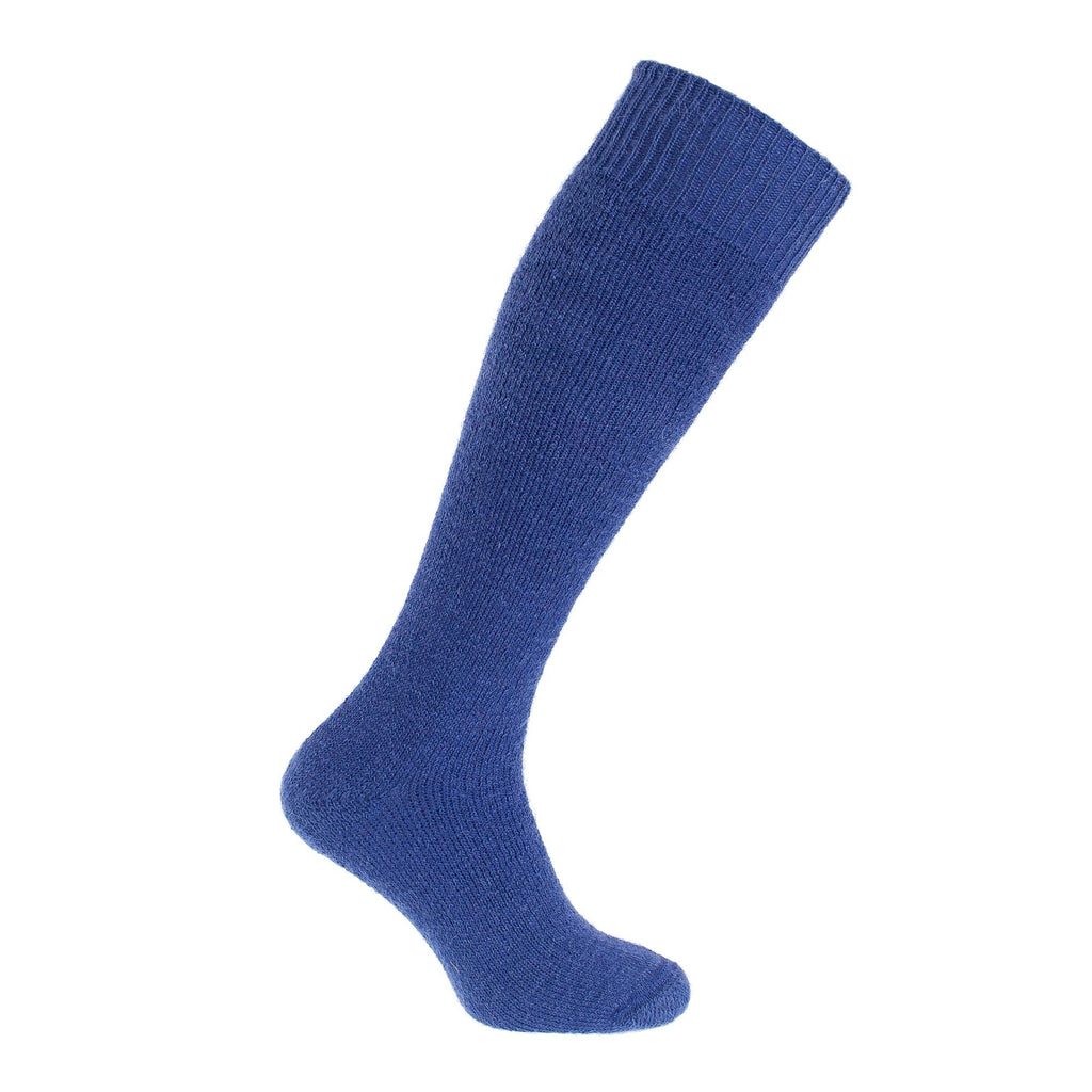 Cairngorm Mohair Long Boot Sock 4-7 UK Atlantic Blue CLOTHING The Wool Company