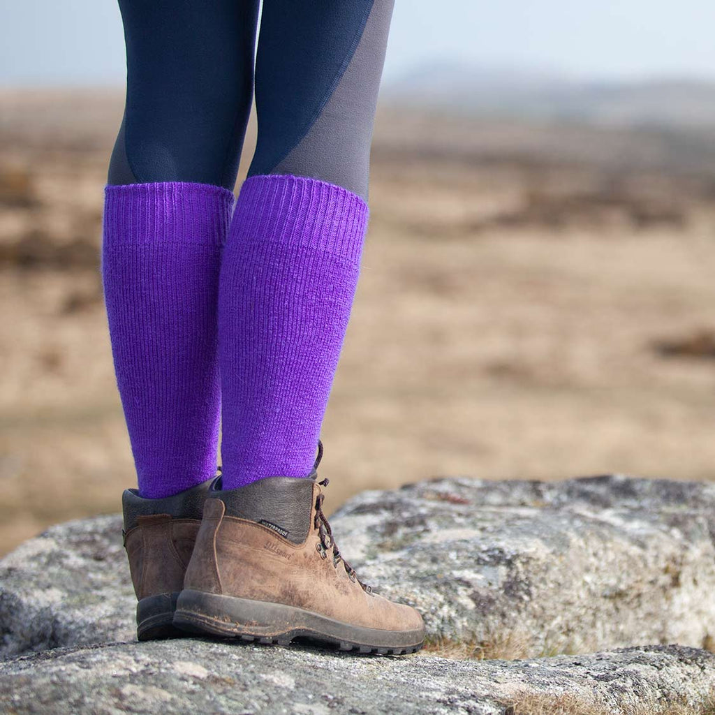 Cairngorm Mohair Long Boot Sock -  - CLOTHING  from The Wool Company
