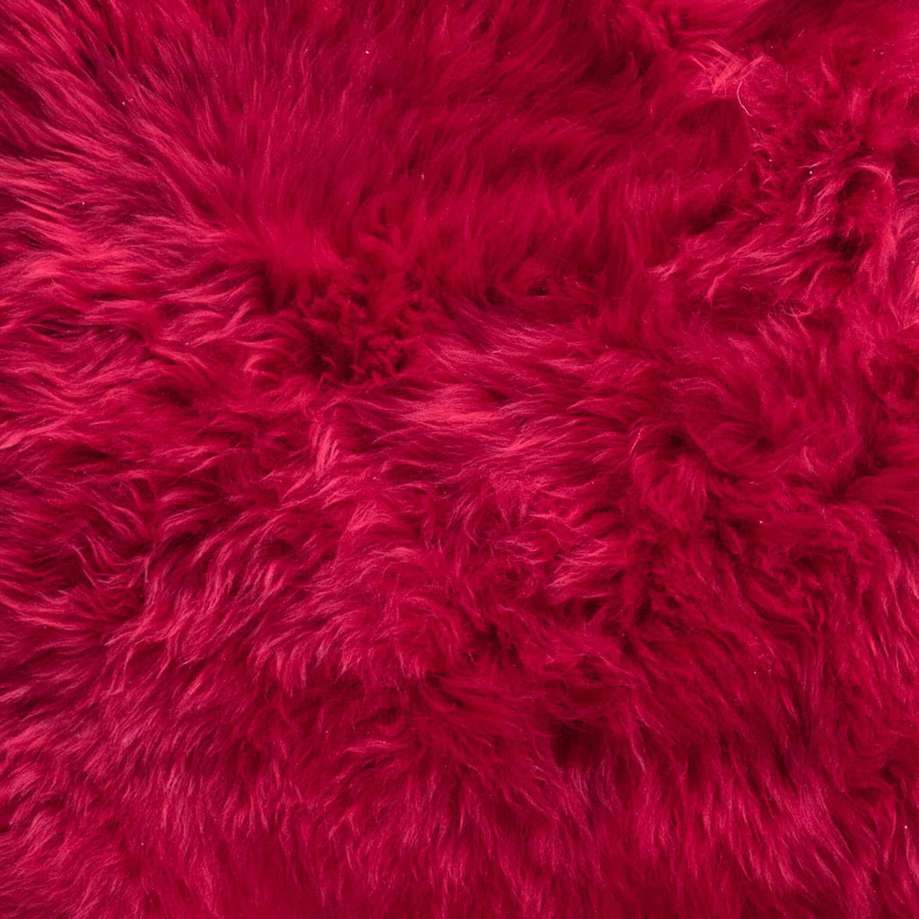 Carmine Red Sheepskin -  - SHEEPSKIN  from The Wool Company
