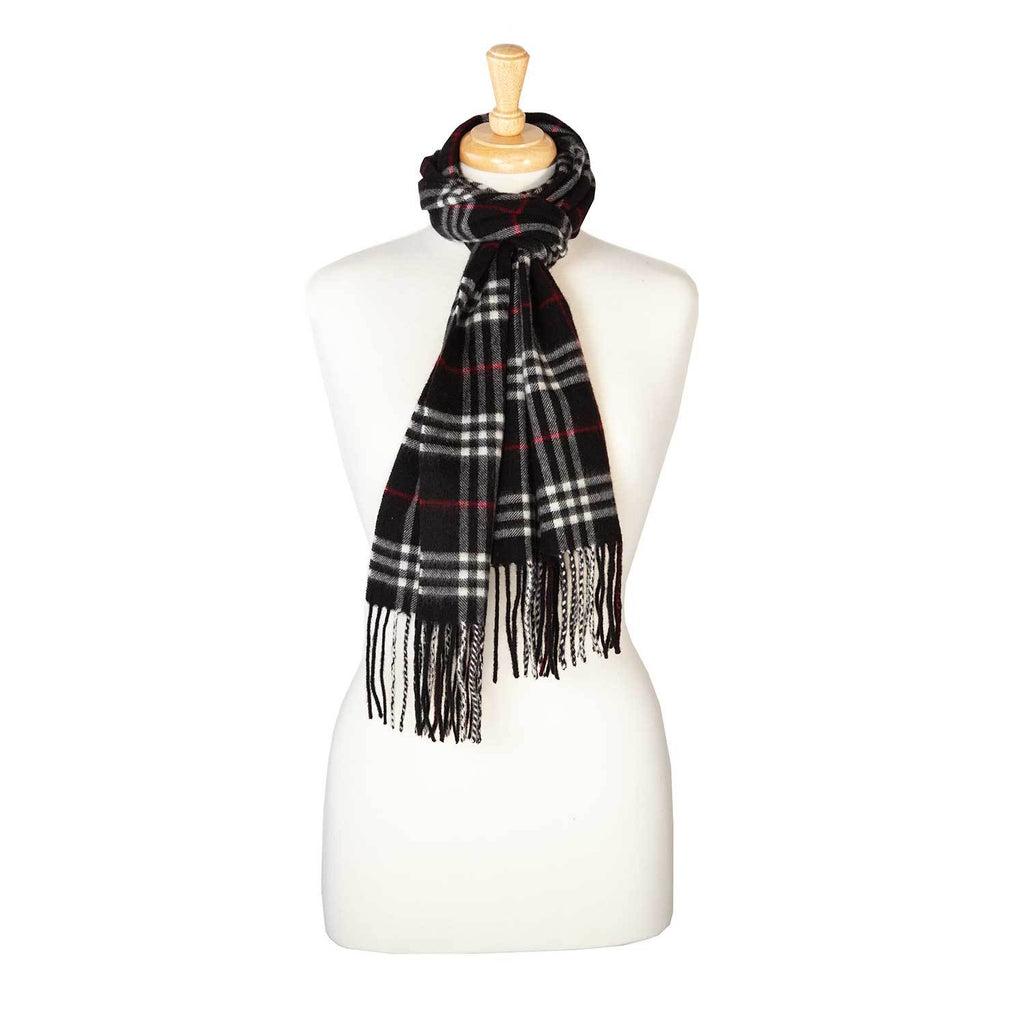 Cashmere Blend Scarf Black Check -  - CLOTHING  from The Wool Company