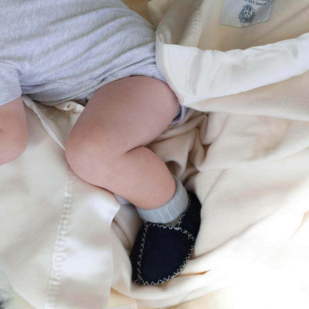 Buy Cashmere De Luxe Baby Blanket Ivory From The Wool Company Online
