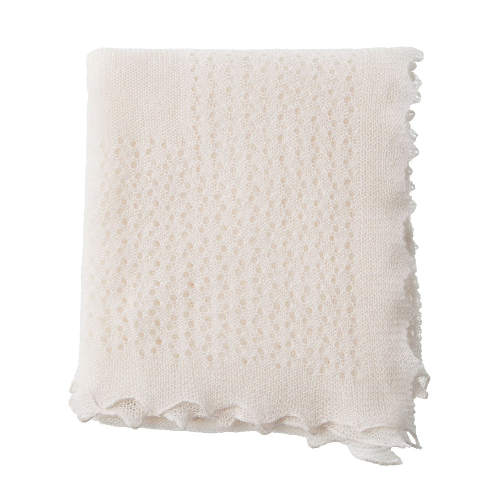 Cashmere Lace Baby Shawl -  - BABY  from The Wool Company