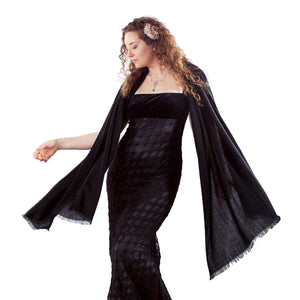 Buy Cashmere Pashmina Black From The Wool Company Online