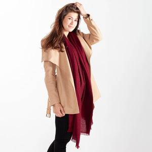 Cashmere Pashmina Burgundy -  - CLOTHING  from The Wool Company