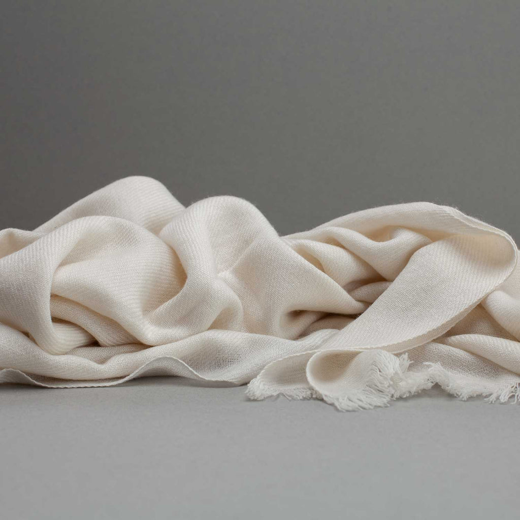 Cashmere Pashmina Ivory -  - CLOTHING  from The Wool Company