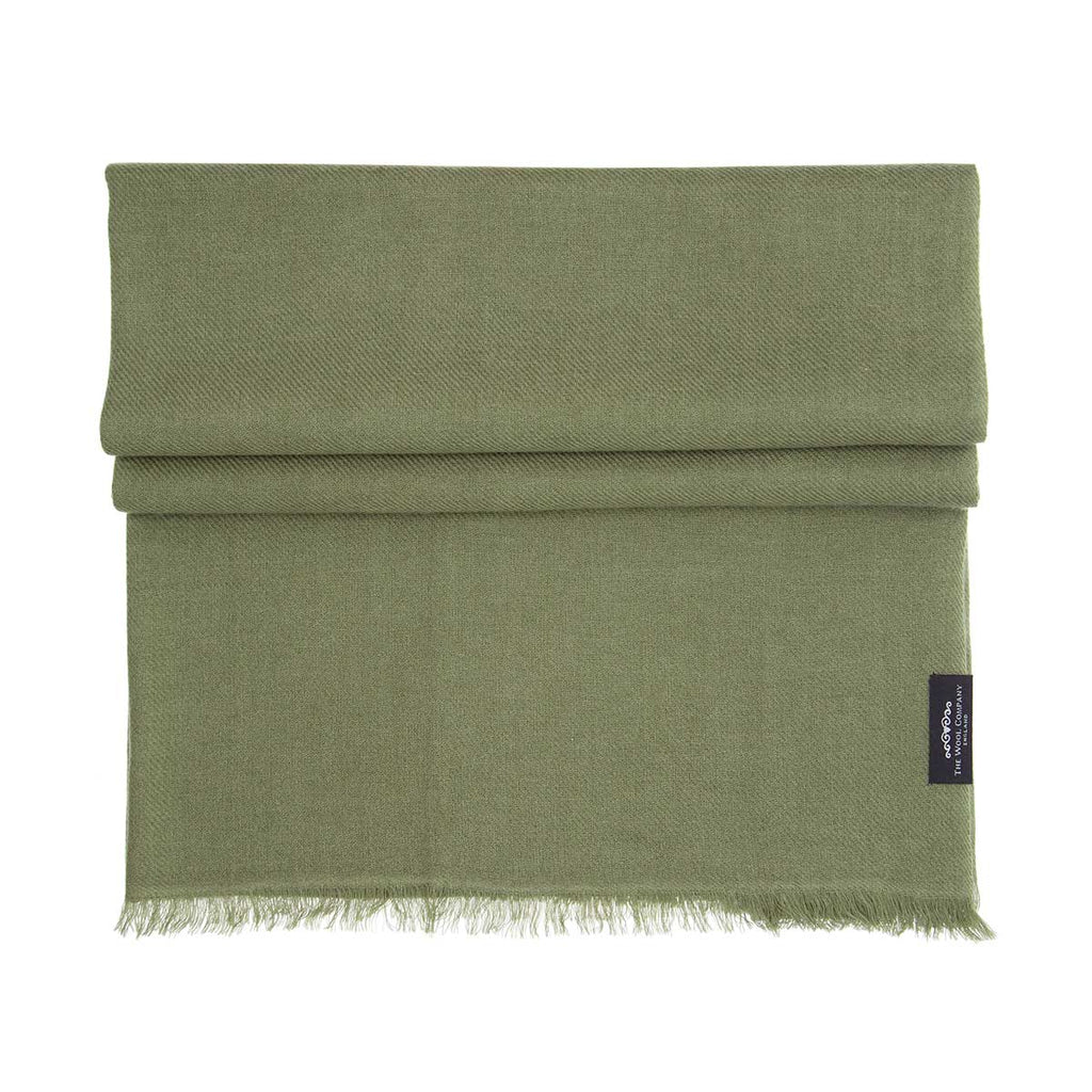 Cashmere Pashmina Khaki -  - CLOTHING  from The Wool Company