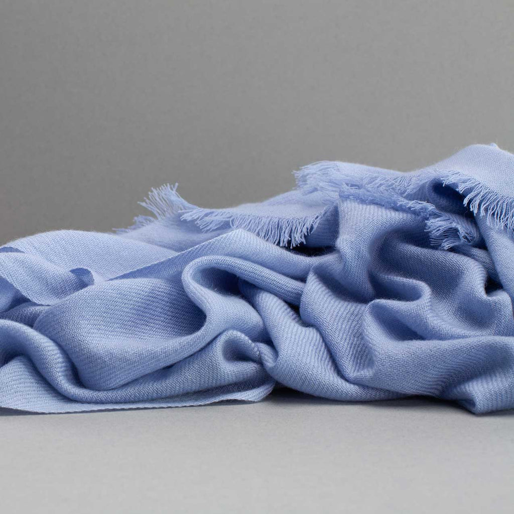 Cashmere Pashmina Light Blue -  - CLOTHING  from The Wool Company