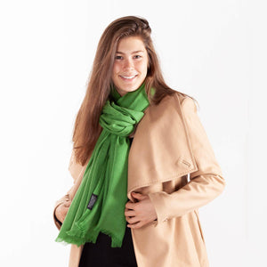 Cashmere Pashmina Moss -  - CLOTHING  from The Wool Company