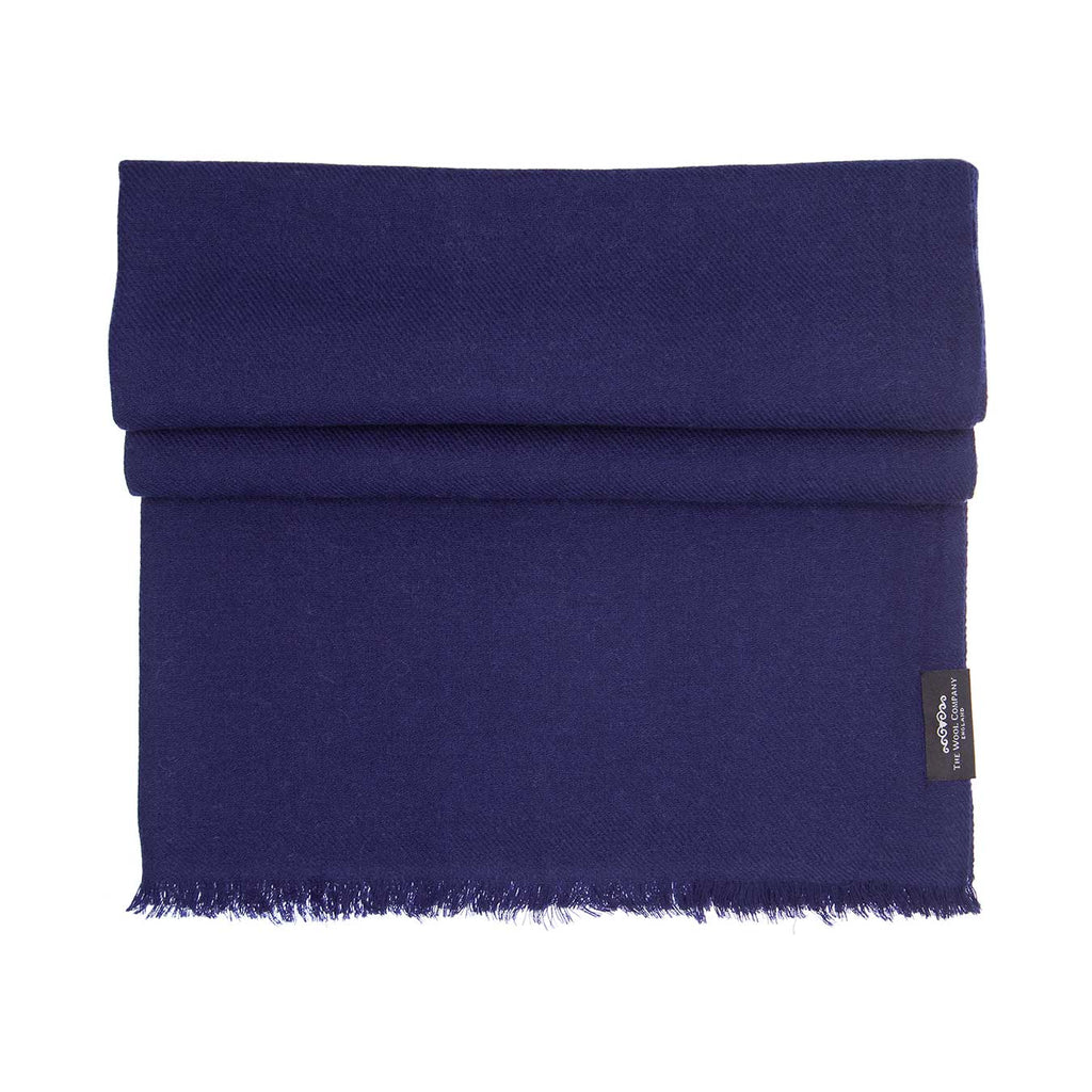 Cashmere Pashmina Navy -  - CLOTHING  from The Wool Company