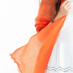 Cashmere Pashmina Orange -  - CLOTHING  from The Wool Company