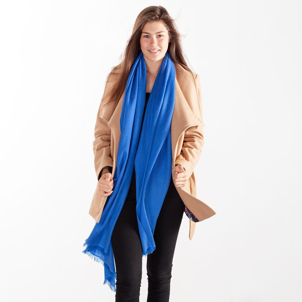 Cashmere Pashmina Summer Blue -  - CLOTHING  from The Wool Company